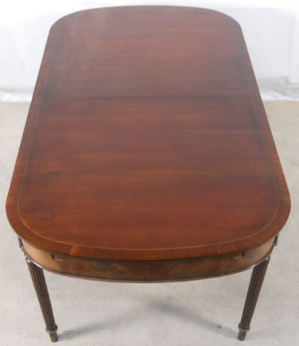 Georgian Style Mahogany D-end Dining Table by Rackstraw